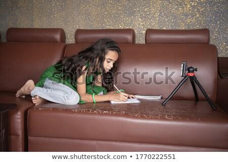 Indian dziewczyna patrząc leniwy badania Zdjęcia stock © ziprashantzi