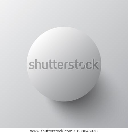 Palla di neve primo piano isolato bianco rendering 3d palla Foto d'archivio © tuulijumala