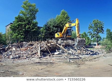 rombolás · helyszín · köteg · tégla · téglafal · beton - stock fotó © spectral