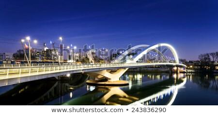 Lyon stad wijk rivier Frankrijk water Stockfoto © vwalakte