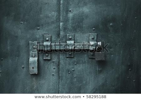 金属 南京錠 ドア チェーン セキュリティ ストックフォト © mikhail_ulyannik