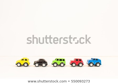 Red and black cars toy set isolated on white background Stock photo © simpson33