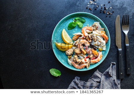 fresh mussels and shrimp stock photo © tangducminh