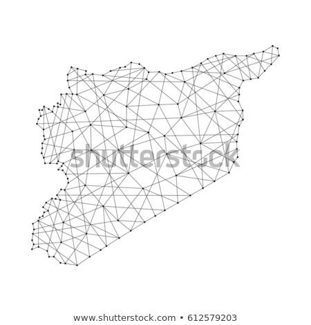 Síria · mapa · vetor · cor · cidade · abstrato - foto stock © istanbul2009