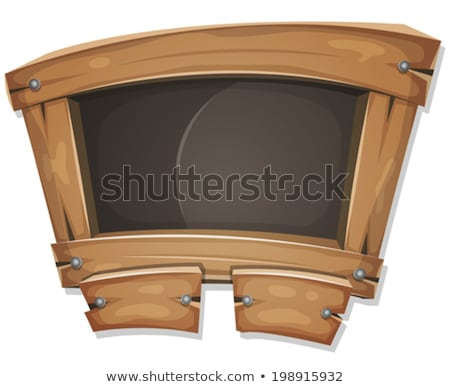 Divertente lavagna segno ui gioco illustrazione Foto d'archivio © benchart