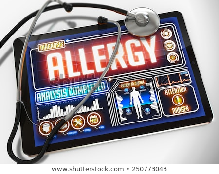 Stock photo: Allergy on the Display of Medical Tablet.