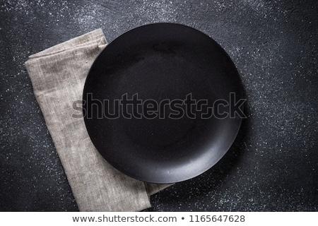 plate and napkin stock photo © illustrart