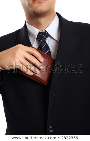 empresário · dinheiro · bolso · preto · negócio · papel - foto stock © andreypopov