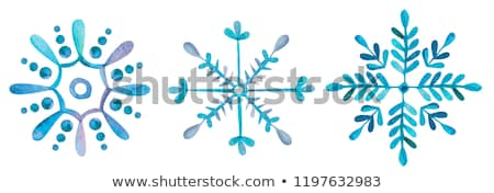 watercolor snowflake stock photo © sonya_illustrations