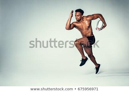 shirtless · voetballer · bal · knap · tonen - stockfoto © wavebreak_media