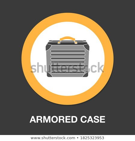 Armor case simple icon on white background. Stock photo © tkacchuk