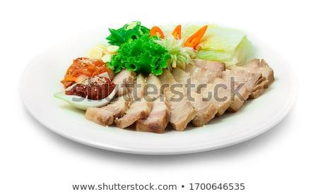 牛肉 · 混合した · 新鮮な · 食品 · プレート · 工場 - ストックフォト © master1305