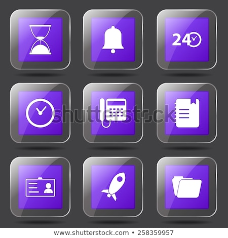 Time Duration Square Vector Violet Icon Design Set Stock photo © rizwanali3d