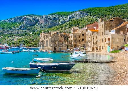 Croatie · belle · paysage · port · plage · ciel - photo stock © nneirda