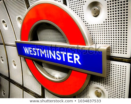 London Westminster underground station sign Stock photo © AndreyKr