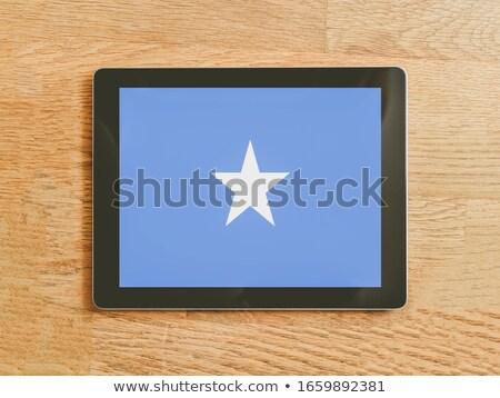 Tablet Somalië vlag afbeelding gerenderd Stockfoto © tang90246