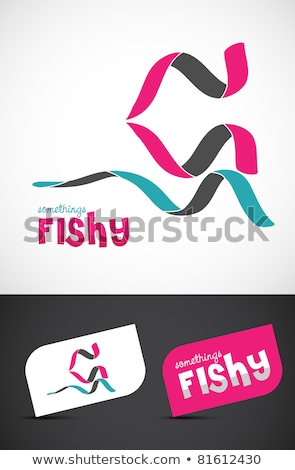Abstact ribbon Logo template.fish stock photo © netkov1