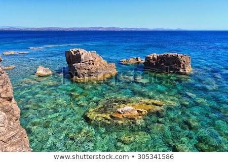 Stok fotoğraf: Uçurum · ada · gökyüzü · su · deniz