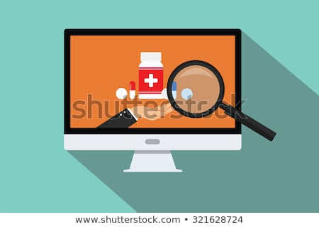 Search Online Instruction and Medical Services Icon. Flat Design Stock photo © WaD