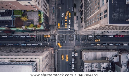 Straat New York New York City 10 taxi Times Square Stockfoto © vwalakte