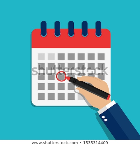 calendário · escritório · papel · caneta - foto stock © fuzzbones0