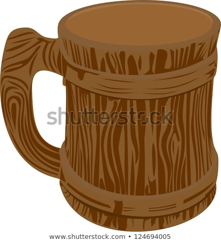Clay beer mug isolated stock photo © jordanrusev