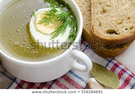 Frescos taza caliente pollo caldo aislado Foto stock © teerawit