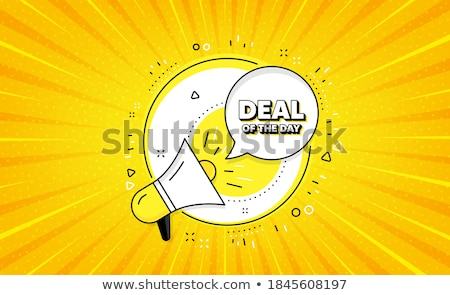 deal sign yellow vector icon button stock photo © rizwanali3d