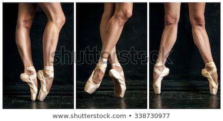hermosa · bailarina · jóvenes · aislado · blanco - foto stock © master1305