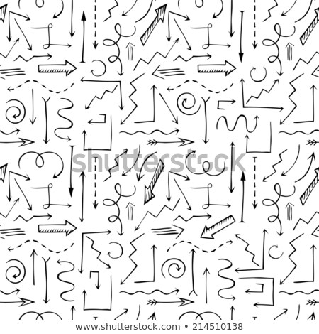 seamless background of hand drawn arrows diagonal up and right stock photo © pakete