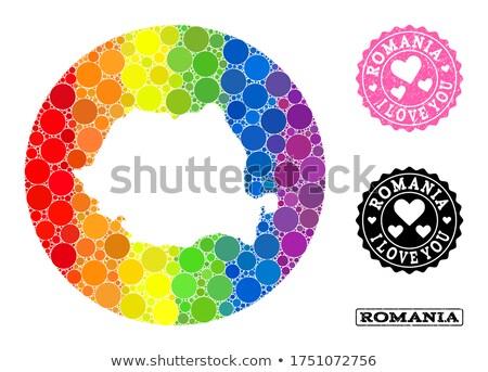 Romênia · bandeira · bandeira - foto stock © tony4urban