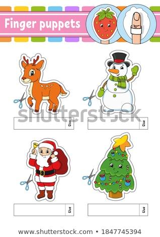 Boneco de neve fantoche ilustração brinquedo engraçado mostrar Foto stock © adrenalina