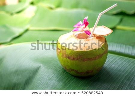 maturo · tropicali · latte · di · cocco · donna - foto d'archivio © kacpura