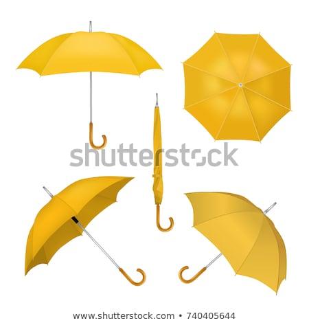 Paraguas amarillo vector icono diseno digital Foto stock © rizwanali3d