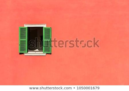 window with open wooden shutters Stock photo © vlaru