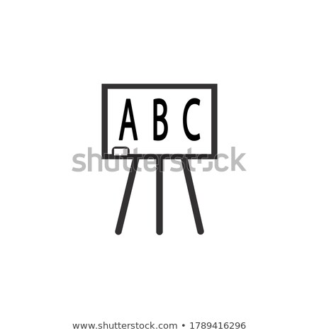 letters abc on blackboard line icon stock photo © rastudio