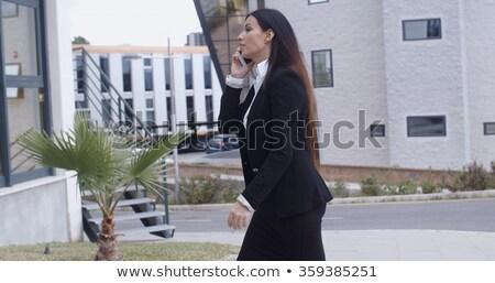 Kobieta interesu spaceru biuro kompleks elegancki młodych Zdjęcia stock © dash