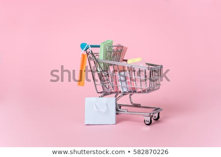 Miniature shopper with shopping cart Stock photo © mady70