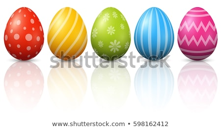 Colored dyed natural hens eggs for Easter Stock photo © ozgur
