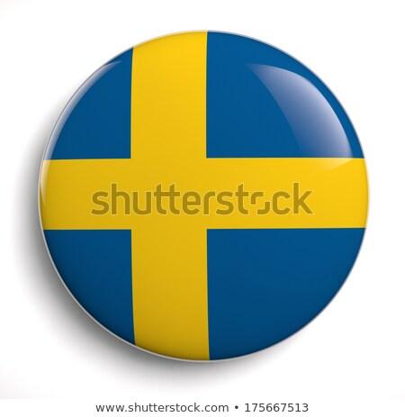 Swedish Flag Oval Button Stock photo © Bigalbaloo