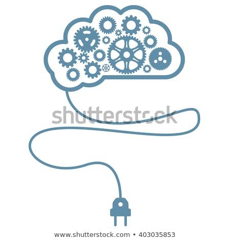 Yapay akla istihbarat beyin dişli kordon Stok fotoğraf © Winner