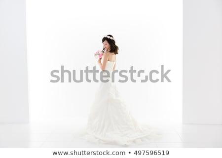 jonge · vrouw · trouwjurk · meisje · gezicht · vrouwen - stockfoto © elnur