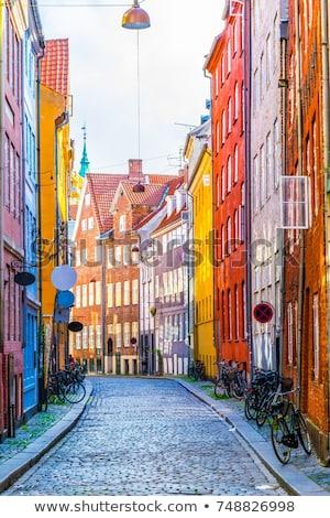 コペンハーゲン 狭い 通り カラフル 住宅 旧市街 ストックフォト © unkreatives