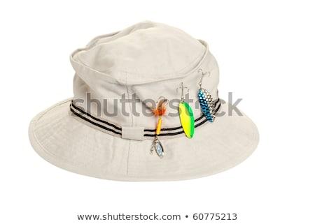 рыбалки Hat регулировка голову моде зеленый Сток-фото © bluering