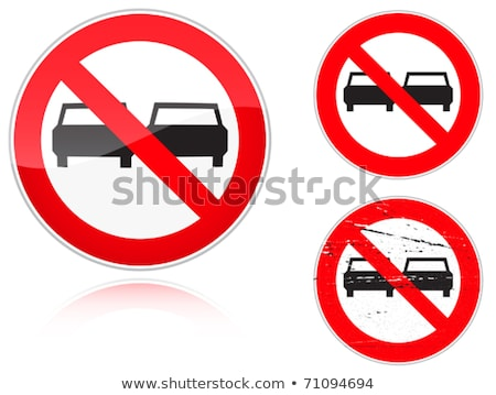 Set of variants a No adelanta - road sign Stock photo © boroda