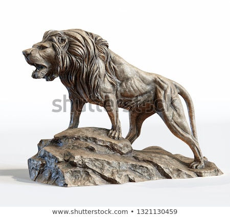 Histórico piedra león escultura campo sala Foto stock © manfredxy