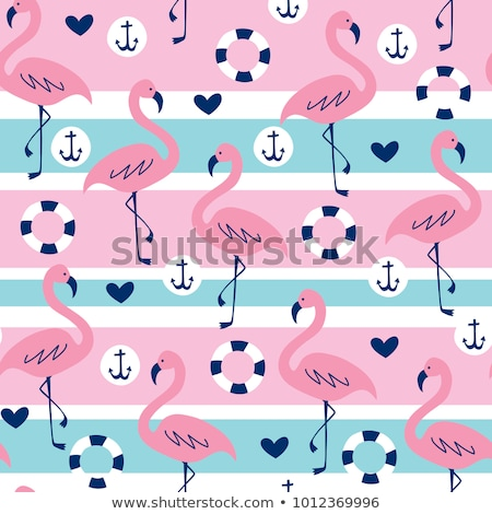 Seamless vector pattern of anchors silhouettes Stock photo © adrian_n
