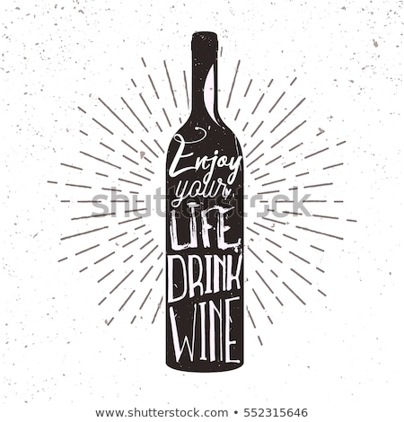 Bottle of wine sketch icon. Stock photo © RAStudio