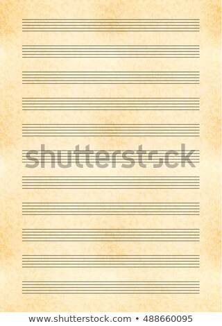 a4 size yellow sheet of old paper with music note stave Stock photo © Evgeny89