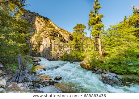 Stock photo: Roaring River Falls shown in early fall in Kings Canyon National